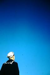 3-2-1952- Sailor-B- USA (foundslides) Tags: pictures ca usa color colour vintage photo pix photos kodak pic retro 1950s 1960s kodachrome slides foundslides oldphotos photgraphy redborder johnrudd irmalouiserudd irmaluoiserudd johnhrudd