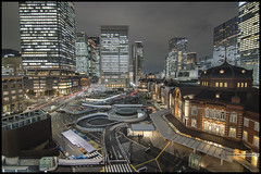 Tokyo Station (Sunbound) Tags: city urban cars station japan tokyo taxi metropolis scape bustling