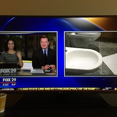 Live bidet coverage. #fox29philly (jennifer_loring) Tags: philadelphia square pennsylvania squareformat snapshots unprocessed iphoneography instagramapp uploaded:by=instagram