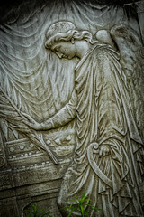 An Angel (Serendigity) Tags: sculpture paris france cemetery graveyard relief prelachaisecemetery