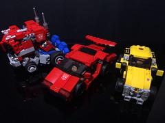 Chibi-Swipe with Chibiformers Vehicle (Sam.C MOCs S2 Studios)) Tags: lego transformers sideswipe chibi moc mech robot anime scifi car lamborghini countach
