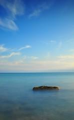 Alone (nataliaf.rouces) Tags: sunset mediterraneo playa villajoyosa