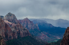 Rains Through the Canyon (wrgenec) Tags: park travel camping sky sun sunshine outdoors utah desert hiking national zion