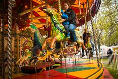 On the Carousel (Val Beegan) Tags: ireland outdoors swings carousel swinging riverfest limerick intheair limerickcity arthursquaypark groupofchildren riverfest2016