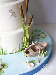 Wind in the Willows (Jen's Cakery) Tags: london cake boat fly dragon quote bull waterlilies rush ernest westlondon celestine weddingcakes windinthewillows jenscakery