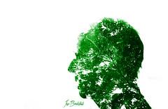 Leaf Head (Jez Bradshaw Photography) Tags: portrait 3 green silhouette canon photography exposure day mark iii 85mm sunny double 5d 18 mk jez bradshaw