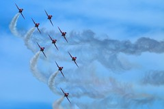 The Reds (Mrs Airwolfhound) Tags: canon bedfordshire planes redarrows raf hawks 70d shuttleworthseasonpremiere