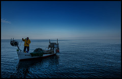 fisherman life (Lukas_R.) Tags: life leica travel people color work fisherman 28mm workplace q rovinj kroatien f17 istrien