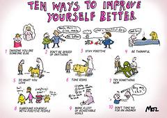 Improve yourself better (Moz the Cartoonist) Tags: uk cartoon moz cartoonist