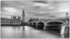 Big Ben under clouds (Stefan Sellmer) Tags: longexposure bridge england bw london classic architecture clouds outdoor details bigben gb westminsterbridge vereinigtesknigreich