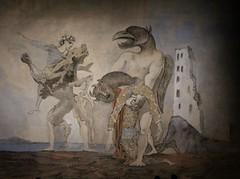 Dpouille de Minotaure en costume d'Harlequin (Thomas Schirmann) Tags: picasso toulouse abattoirs nuitdesmuses minotaure