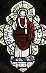 St Augustine of Canterbury (Lawrence OP) Tags: glass cathedral saints monk canterbury stained cloister augustine webb