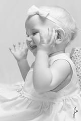 Happy baby girl (jannaheli) Tags: bw baby cute girl suomi finland blackwhite helsinki babygirl littleprincess oneyearold mv homestudio vauva tytt sp strobist kotistudio mustavalkonen 1vuotias valaisu pikkuprinsessa tyttvauva nikond7200 ensikerrallaonnistunparemmin