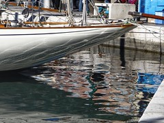Voilier  quai , St Tropez (stbaillon) Tags: sea mer seascape port boat yacht sttropez classical reflets quai yachting bassin sailingboat voiles