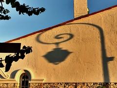 Evening shadows (Winniepix) Tags: shadow sky sun sunlight abstract geometric lamp wall evening nice ctedazur reflect curl curve shape stjeancapferat
