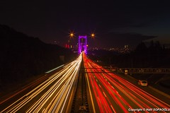 Roundtrip to Europe (Halil Sopaolu HN I Photography) Tags: flickr longexposure bridge canon halil2016 outdoor skyline road night light photography cars red yellow borsphorus 6d istanbul