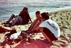 Chillin' guys (annabochkareva) Tags: montenegro filmisnotdead 35mmfilm kodak 35mm nikon filmcamera filmphotography film lvo ulcinj jadran adriatic sea sand bojana ada adabojana plaza velika beach chilling guys