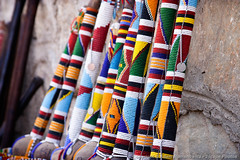 Beaded Rungus (Maasai clubs) (3scapePhotos) Tags: africa maasai olduvai tanzania beaded club clubs continent gorge rungu rungus safari serengeti