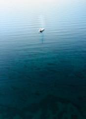 At Sea (Myles Ramsey) Tags: sea water ocean lake sail boat calm blue waves