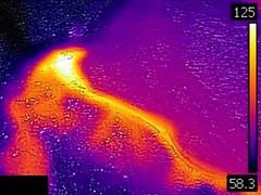 Thermal image of Mouth Geyser (12:08 PM, 11 June 2016) (James St. John) Tags: mouth geyser hill group upper basin yellowstone volcano wyoming hot spring springs thermal image photo picture temperature