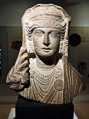 Ancient Rome. Bust of a veiled woman from Palmyra, Syria,  between 80 - 120 AD. (mike catalonian) Tags: sculpture female bust syria palmyra ancientrome 1stcenturyad 2ndcenturyad