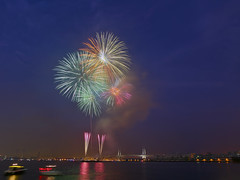 Yokohama Sparkling Twilight 2016 (DigiPub) Tags: 361903 esp 577858966 gettyimages onsale annualevent architecture artscultureandentertainment bayofwater buildingexterior celebration city citylife colorimage exploding famousplace fireworkdisplay harbor horizonoverwater horizontal japan japaneseculture kanagawaprefecture motion multicolored night nopeople outdoors pacificocean photography reflection sky summer traveldestinations urbanskyline yokohama yokohamabaybridge