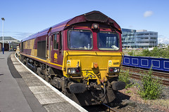 66110 6K23 (Rossco156433) Tags: kilmarnock scotland ayrshire eastayrshire train loco locomotive diesel engine ews dbs dbc dbschenker dbcargo class66 shed freight electromotivediesel generalmotors 66110 networkrail engineering