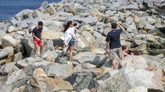 Rockport, Massachusetts. (dckellyphoto) Tags: newengland 2014 massachusetts rockport rockportma rockportmassachusetts essexcounty bearskinneck people rocky rocks rock stones wall seawall water ocean bay