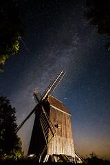 Milkyway above a mill (Nelofee-Foto) Tags: outdoor mill mhle milchstrase milkyway sterne stars sky nightsky nachthimmel himmel nacht noflash longtime longexposure brandenburg glpe sternschnuppen europa deutschland europe germany