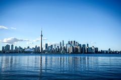 Toronto Skyline (Billy K. Chen) Tags: canada ontario toronto travel sightseeing tourism city downtowntoronto waterfront ferry reflection skyline centreisland cntower rogerscentre torontoskyline