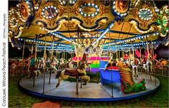 Carousel, Winona Peach Festival (jwvraets) Tags: carousel winona winonapeachfestival night fallfair tonemapped hdr opensource luminance rawtherapee gimp nikon d7100 nikkor1224mm