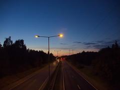 rbyleden at night (Asansvarld) Tags: rbyleden bandhagen sweden sverige stockholm sky himmel kvll night nightsky olympusomdem5 solnedgng
