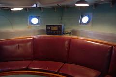Lightship Interior, Boston MA (Boston Runner) Tags: lightship nantucket lv112 boston harbor massachusetts 1936 shipyard marina eastboston museum preserved interior officer room seats radio