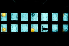 Swimming pool (fernando_gm) Tags: swim swimming pool people man gente person contrast black blue water agua negro azul bilbao bilbo spain españa fujifilm fuji 1024mm creative creativa perspectiva perspective