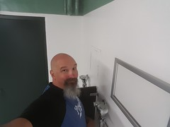 Restroom Selfie (cjacobs53) Tags: jacobs jacobsusa clarence cj bald goatee beard restroom rest room bath bathroom