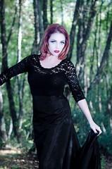 effMorgMU18 (Beauty*is*a*Trick) Tags: red black tattoo dark hair model long dress mask witch teal goth makeup lips ombre lipstick eyeshadow alternative mua makeupartist