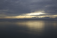 Gold and blue (Getting Better Shots) Tags: ocean beach water clouds reflections whidbeyisland hikes ebeylanding