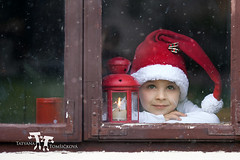 Adorable boy, looking through window, waiting for Santa (Tatyana Tomsickova) Tags: santa christmas xmas winter light boy red portrait sky people white holiday snow cute eye cup face hat childhood season fur fun happy kid pretty heaven advent candle child little expression background think pray seasonal dream young feather adorable happiness cap dreamy preschool lantern wish claus tight suspenders heavenly