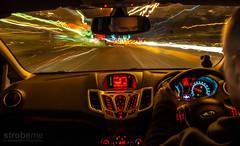 Night Drive (strobeme) Tags: road car night driving lighttrails nikond700