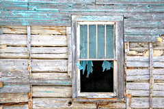 Tatters (Cindy's Here) Tags: blue canada abandoned window canon open wind decay manitoba curtains lessismore ansh tmsh takeaim scavenger1 broadvalley flickrbingo compcorner 1214sh11
