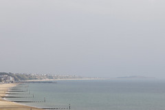 beach. (dorthrithil) Tags: ocean sea england beach water canon eos pier horizon bournemouth ef 6d 24105