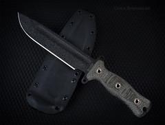 Busse Combat Team Gemini Light Brigade (Fly to Water) Tags: light black team busse knife canvas combat gemini brigade tactical sheath micarta