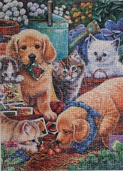 Purfect Garden Buddies (pattakins) Tags: cute animals garden colorful puzzle jigsawpuzzle