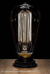 Edison Squirrel Cage on Wood (_Captive Image_) Tags: life old light shadow brown black glass lamp silhouette lightbulb electric mystery sepia bulb dark square screw back still energy warm glow power bright symbol random thomas antique victorian dramatic objects indoor icon silo mysterious electricity iridescent form tungsten sight lit concept watts transparent outline conceptual metaphor drama electrical ideas tones current tone edison filament volts squirrelcage tonal visibility captiveimagephotography