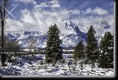 Winter Landscape, Grand Tetons (Daryl L. Hunter - Hole Picture Photo Safaris) Tags: wyoming grandtetons jacksonhole snowylandscape winterlandscape grandtetonnationalpark buckrailfence