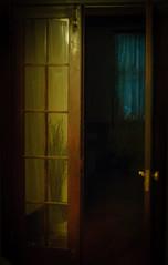 morning doorway (andymudrak) Tags: flickrfriday lifeat6am blue door glass opening window yellow