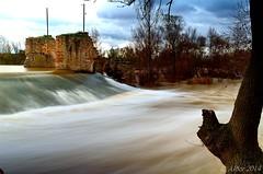 Paisaje de Otoo, ro Duero... (Alberto Fer.) Tags: espaa miguel ro agua san paisaje valladolid otoo diciembre larga 2014 exposicin duero