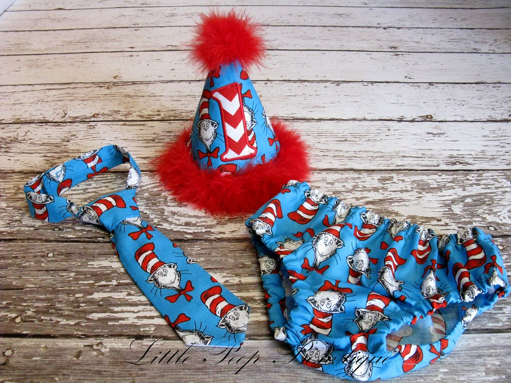 Cat In The Hat Cake Smash Outfit Sweet William Boutique Tags Birthday Boy