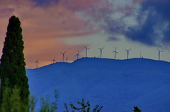 Ribeira Sacra - Galice - Espagne - 138 Rosende éoliennes au loin (paspog) Tags: spain galicia espagne spanien renewableenergy éoliennes greenpower galice ribeirasacra rosende énergierenouvelable électricitéverte