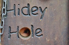 Eye spy..... (stavioni) Tags: eye forest hole alice eyeball peek holt hidey